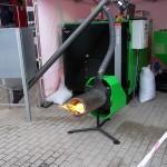 Пеллетная горелка на выставкев Литве
