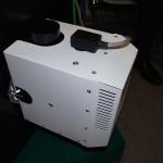 Горелка Platinum Bio установленная в пеллетный котёл Mini Bio