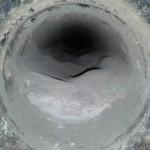 Горизонталь дымохода 1,5 метра забита