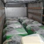 Полный грузовик с пеллетными котлами