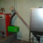 Отопительный котел с горелкой Kostrzewa Platinum Bio 16kW